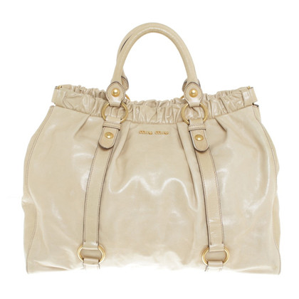 Miu Miu Shoppers in Beige