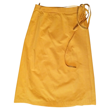 Bogner Sun yellow wrap skirt