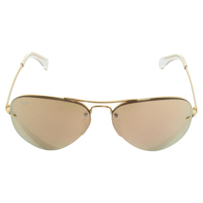 Ray Ban Gold-colored aviator sunglasses