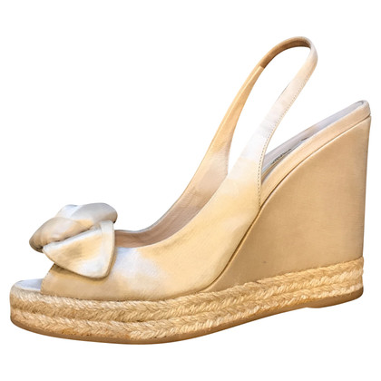 Prada Prada wedge sandal in white
