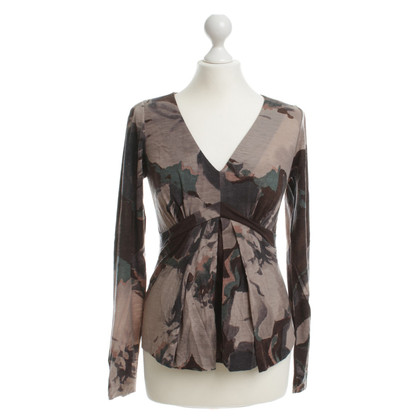 Etro top with camouflage patterns