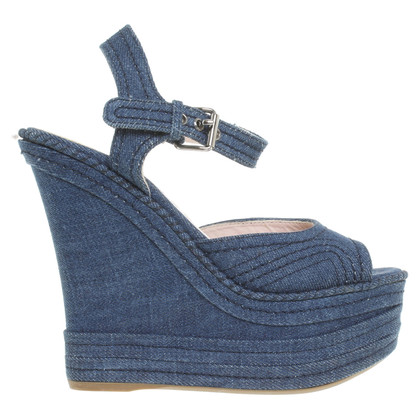 Miu Miu Sandaletten aus Denim