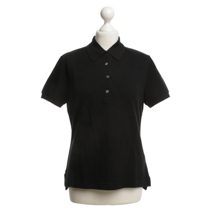 Hermès Poloshirt in Schwarz