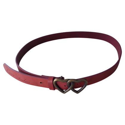 Moschino Love leather belt