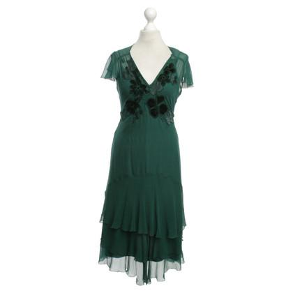 Karen Millen Silk dress in green