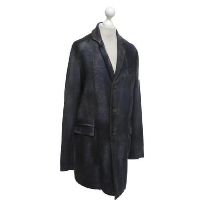 Avant Toi Coat in blue / black