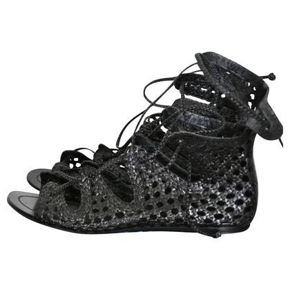 Sigerson Morrison Zwart lederen sandalen