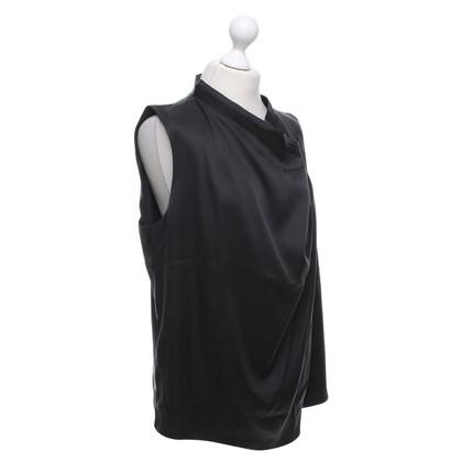 Giorgio Armani Silk Top in zwart