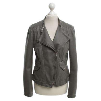 Marc Cain biker jacket with hole pattern
