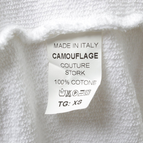 Wei aus Pullover Camouflage Camouflage Couture Baumwolle Couture Pullover wqOHa80n