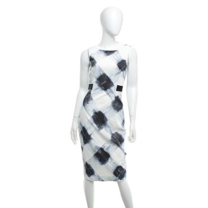 Karen Millen Dress in cream / blue
