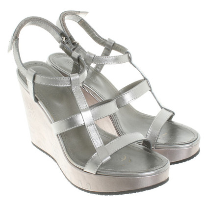 Hogan Sandals in silver