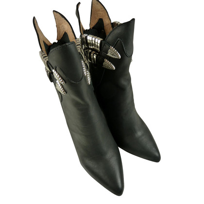Other Designer Black ankle boot with silver details