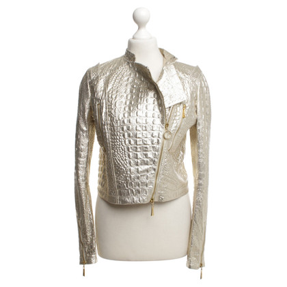 Just Cavalli biker jacket in oro