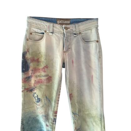 John Galliano Jeans à motifs