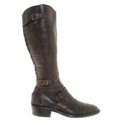 Belstaff Leren laarzen in darkbroom
