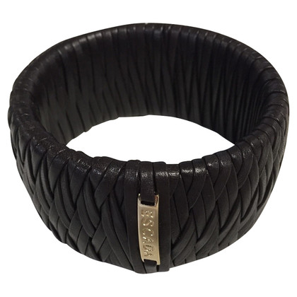 Escada Braided leather bangle