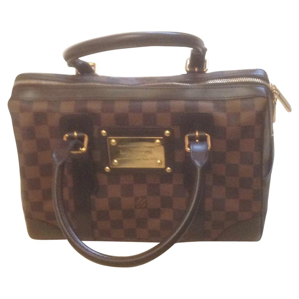 louis vuitton handtasche aus damier ebene canvas second hand louis vuitton handtasche aus. Black Bedroom Furniture Sets. Home Design Ideas