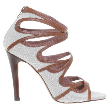L'autre Chose Sandali in beige e marrone