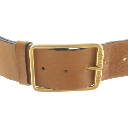 Patrizia Pepe Leather belt in ocher