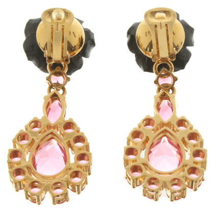 Prada Clips d'oreilles avec pierres précieuses