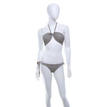 Mitos  Bikini with stripe pattern