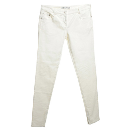 Christian Dior Baumwoll-Jeans in Creme