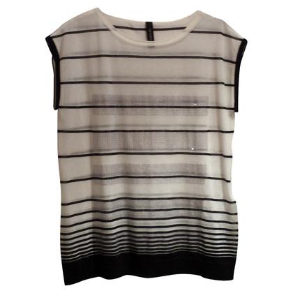 Marc Cain Pailette shirt, striped