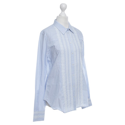 Napapijri Striped blouse with lace
