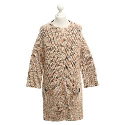French Connection Knitted coat in apricot