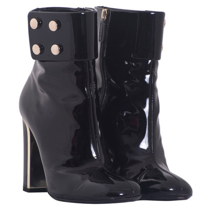 Gucci Black patent leather ankle boots
