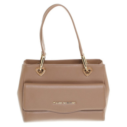 Moschino Love Handtasche in Braun
