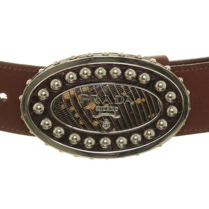 Prada Belt with rivets-buckle