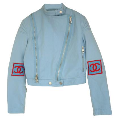 Chanel biker jacket made of denim