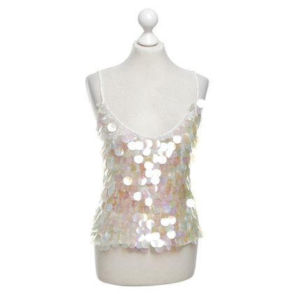 Marc Cain Top con finiture in paillettes
