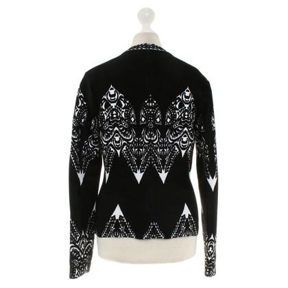 Alaïa shirt de tricot en noir / blanc