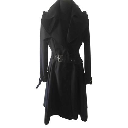 Bouchra Jarrar Black coutoure trenchcoat