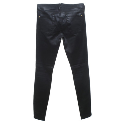 7 For All Mankind Skinny-Jeans in Schwarz