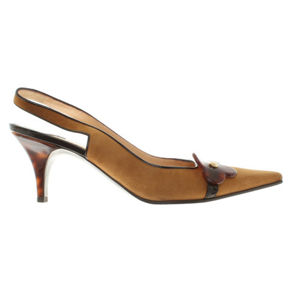 Louis Vuitton Slingback-Pumps in Cognac