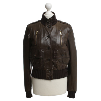 Gucci Leather jacket in biker style