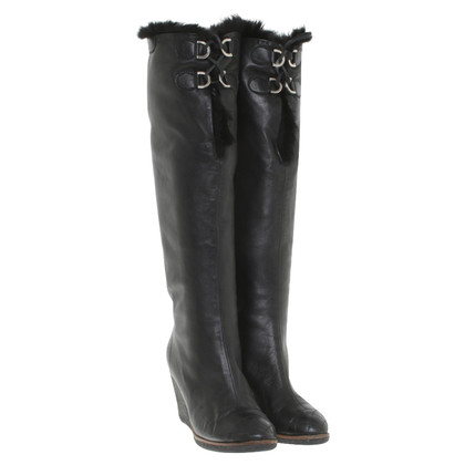 Chanel Boots with mink fur