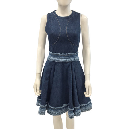 Alexander McQueen Denim-Couture-Kleid