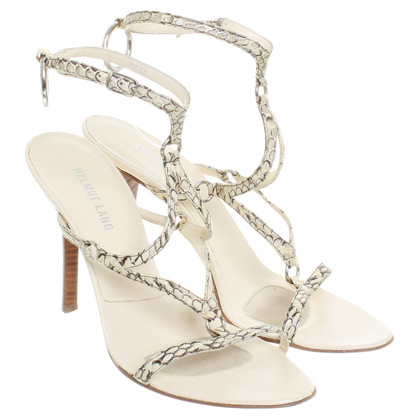 Helmut Lang Cream-coloured leather sandal
