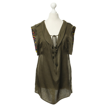 Matthew Williamson Top in seta verde