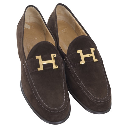Hermès Unspoiled wild leather Loafer