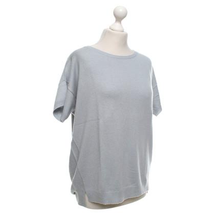 Closed Korte mouwen trui in lichtblauw