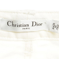 Christian Dior Cotton jeans in cream