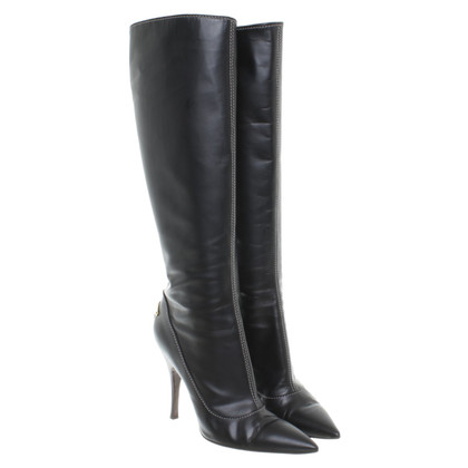 Louis Vuitton Leather boots with heel