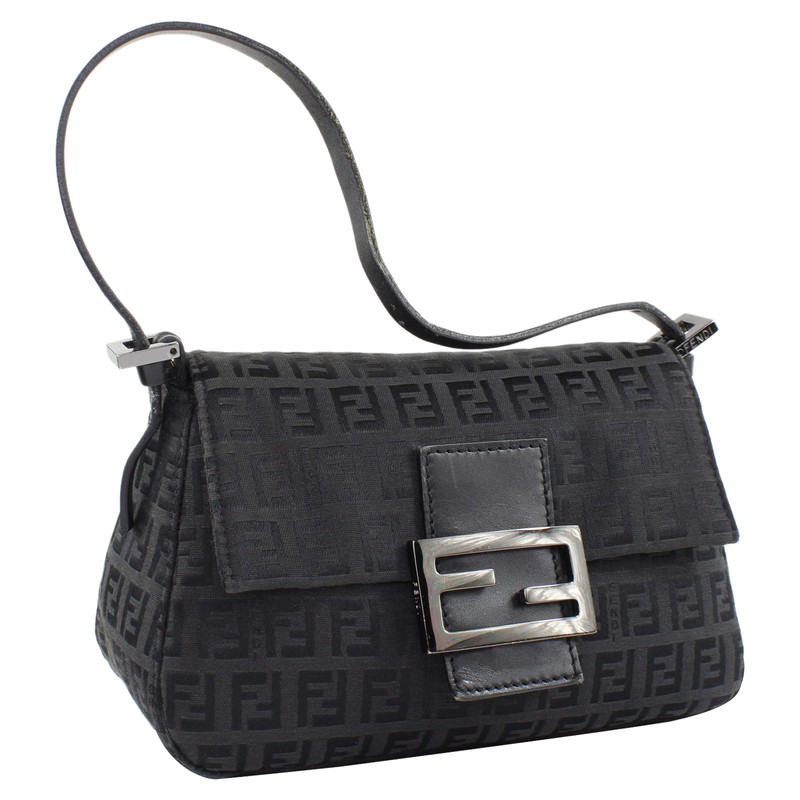 Fendi Baguette Bag in Black Second Hand Fendi Baguette Bag