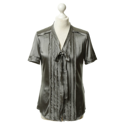 DKNY Short-sleeved silk blouse